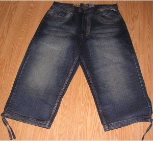 Royal Blue 3 Quarter Length Jeans Dark Blue 42x22.5
