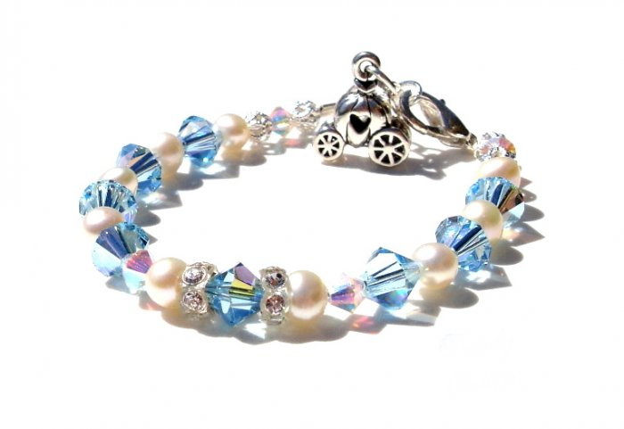 Baby Girl Child BLUE CINDERELLA BRACELET Custom Boutique