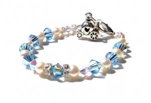 Baby Girl Child BLUE CINDERELLA BRACELET Custom Boutique