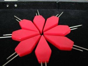 Eight Piece Cherry Red Bakelite Red Corn Holder/Kob-Nob Set