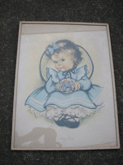 Vintage Art Giclee Print-Adorable Brunette Child