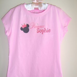 Personalized Princess Mouse Vacation Tee Shirt