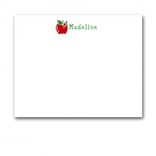 Personalized Kids Stationery - Flat Note Cards