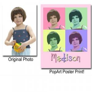 "PopArt Style Digital Art Print 12x18"""