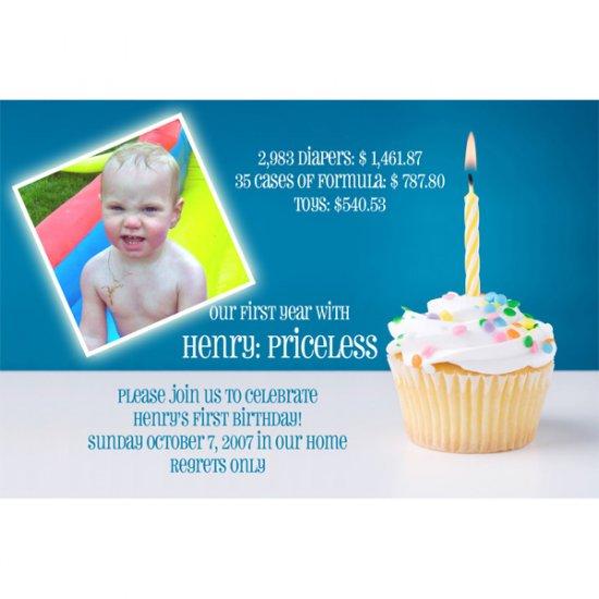 "Custom Photo Birthday Invitations 4x6"""