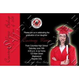 """4x6"""" Photo Graduation Announcement Invitation"""
