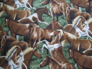 Wild Horses Custom Made Medical Vet Scrub Top