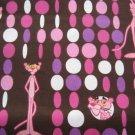 Pink Panther Custom Scrubs Scrub Top Dots on Brown