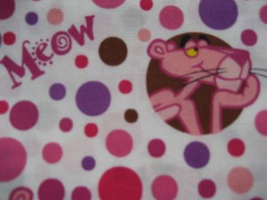 Pink Panther Custom Scrubs Scrub Top Meow
