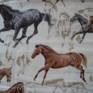 Horse Animal Western Custom Medical Vet Scrubs Scrub Top NEW