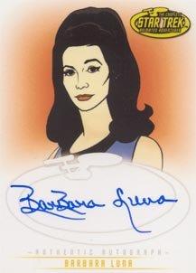 Star Trek Art & Images A19 Barbara Luna - Moreau auto card