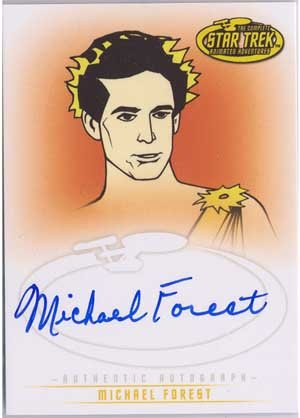 Star Trek Art & Images A29 Michael Forest - Apollo auto card