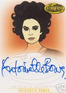 Star Trek Art & Images A33 Antoinette Bower - Sylvia auto card