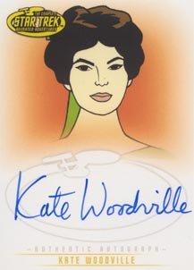 Star Trek Art & Images A37 Kate Woodville - Natira auto card