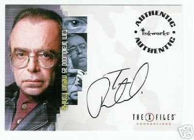 X-Files Connections A7 Tom Braidwood - Frohike auto card