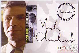 X-Files Connections A10 Nick Chinlund - Pfaster auto card
