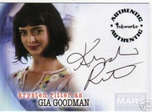 Veronica Mars season 2 A17 Krysten Ritter - Gia Goodman auto card