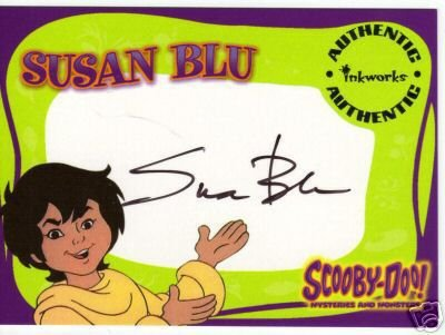 Scooby Doo Mysteries & Monsters A3 Susan Blue auto card