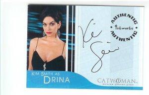 Catwoman movie A4 Kim Smith - Drina auto card