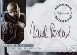 Hellboy movie A3 Karel Roden - Grigori Rasputin auto card