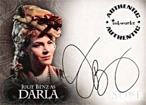 Spike the Complete Story A3 Julie Benz - Darla auto card