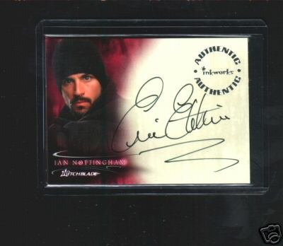 Witchblade TV Show A5 Eric Etebari - Ian Nottingham auto card