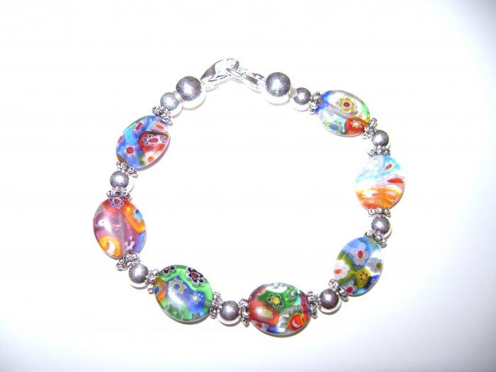 Millefiori Glass Medical I.D. Alert Replacement Bracelet