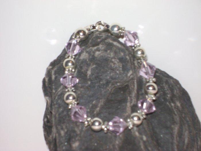 Pink & Silver Medical I.D. Alert Replacement Bracelet
