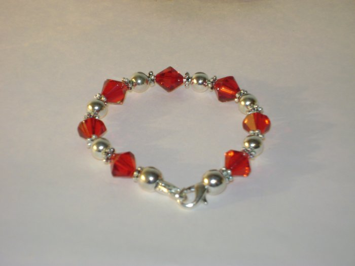 Red & SilverMedical I.D. Alert Replacement Bracelet