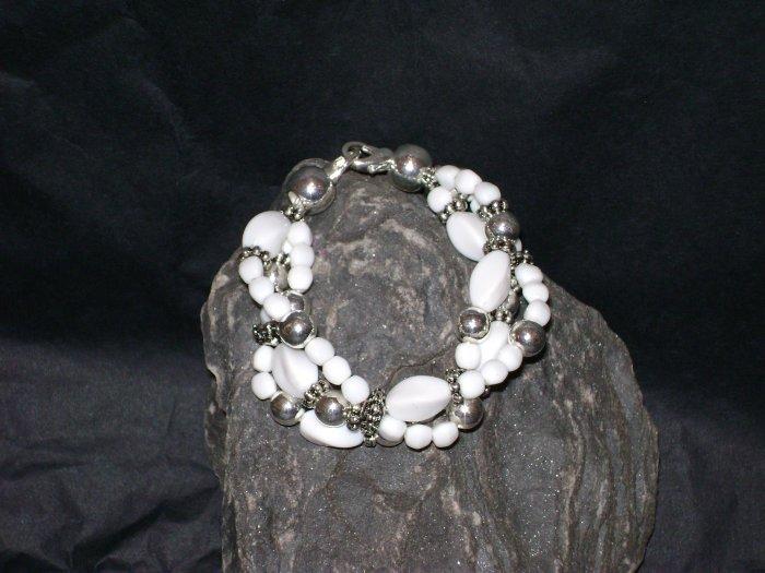 White Triple StrandMedical I.D. Alert Replacement Bracelet