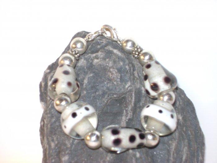 Black & White DotsMedical I.D. Alert Replacement Bracelet
