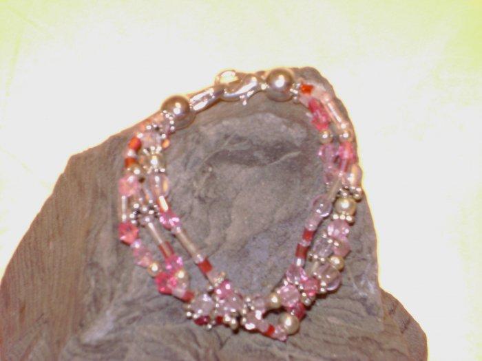 Pink Triple Strand Medical I.D. Alert Replacement Bracelet