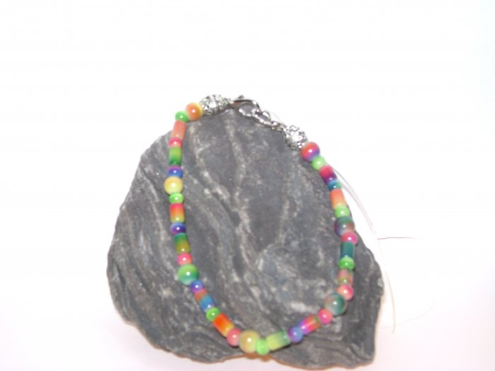 Tye Die Rainbow Medical Alert Bracelet