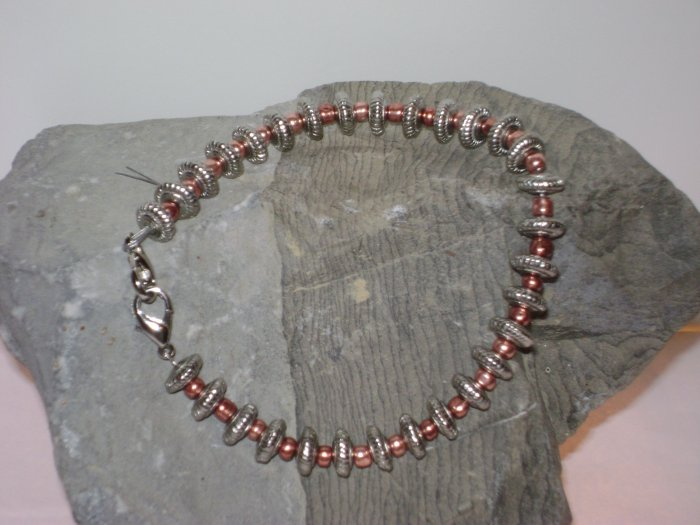 Copper & Pewter Medical Alert Replacement Bracelet