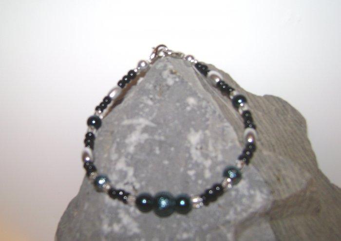 Teal & Black Medical Alert I.D. Replacement Bracelet