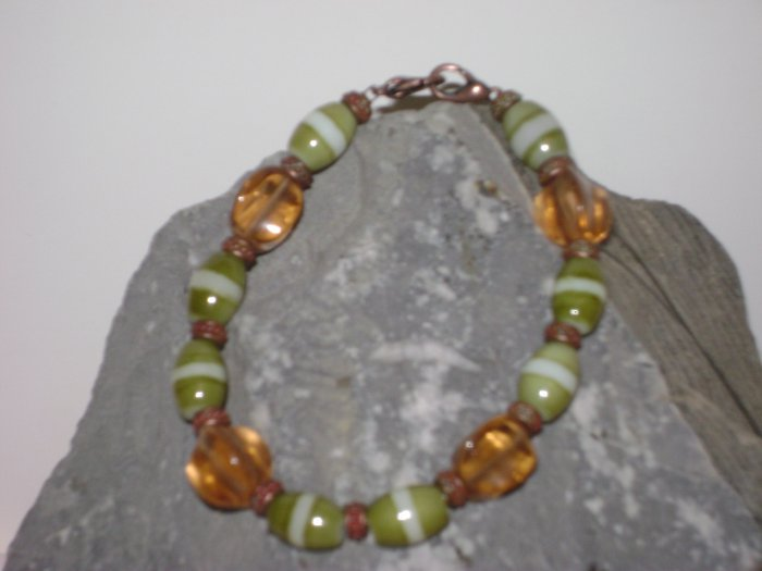 Amber, Olive, & Copper Medical Alert I.D. Replacement Bracelet