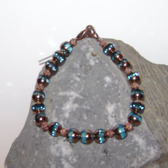 Teal & Copper Medical Alert I.D. Replacement Bracelet