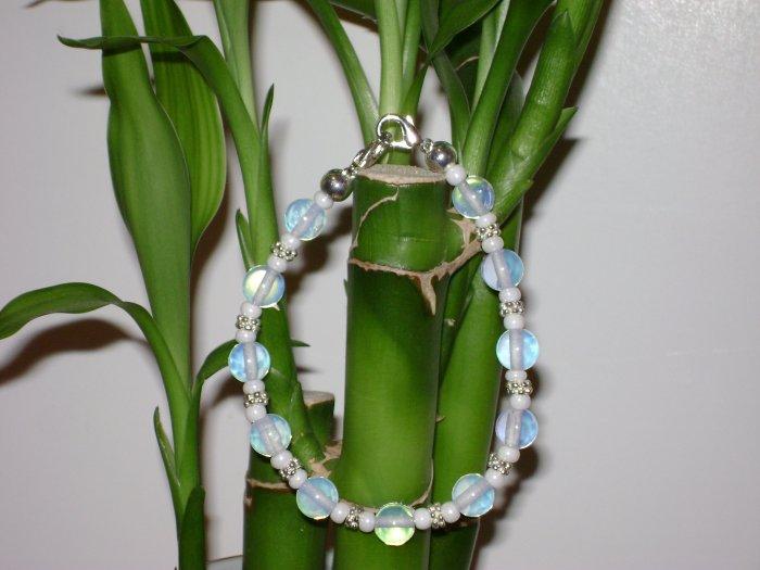 Moonstone & Silver Medical Alert Replacement Bracelet