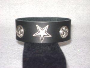 Fleur De Lis/Star Snap Cuff Bracelet