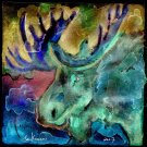 """Extreme Bull Moose"" Watercoloring Painting Print"