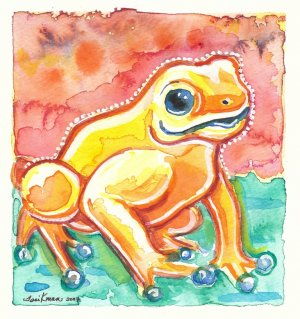 """""""Rain Forest Frog"""" Watercolor Painting Print"""