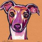 """Greyhound"" Watercolor Painting Print"
