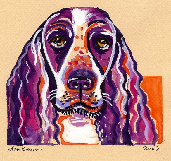 """English Springer Spaniel"" Watercolor Painting Print"