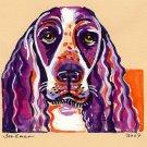 """English Springer Spaniel"" Watercolor Painting Print"