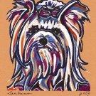"""Yorkshire Terrier"" Watercolor Painting Print"