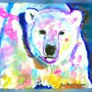 """Northern Lights"" Polar Bear Watercolor Painting Print"