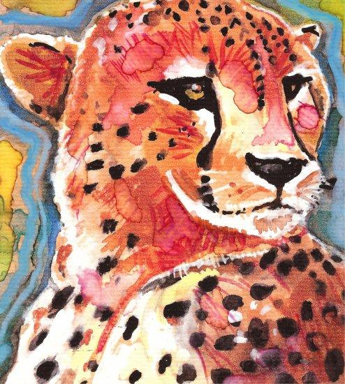 """""""Cheetah"""" Watercolor Painting Print"""