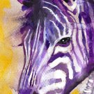"""Zebra"" Watercolor Painting Print"