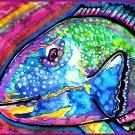 """Parrotfish"" Watercolor Painting Print"