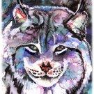 """Lynx"" Watercolor Painting Print"